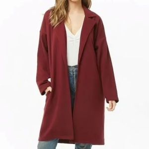 Forever 21 medium French Terry Trench Coat